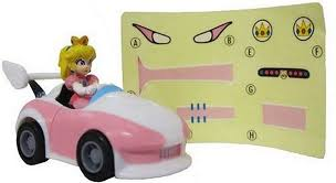 Amazon Com Wii Mario Kart Racing Collection Version 3 Pull Back Cars With Decal Stickers 2 5 Princess Peach Toys Games