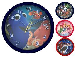 Boys Girls Character Round Wall Clock Kids Bedroom Accessory Gift Childrens Ebay