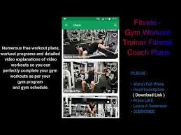 gym workout trainer fitness coach plans