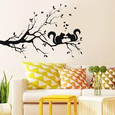 Squirrel On Long Tree Branch Wall Sticker Animals Cats Art Decal Kids Room Decor Modern Wall Decals Home Bedroom Decoration Decor Stickers Decor Stickers For Walls From Micandy 13 38 Dhgate Com