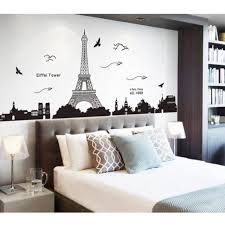 Paris Eiffel Tower Romantic Wall Sticker Living Room Decal Mural Removable Own For Sale Online Ebay