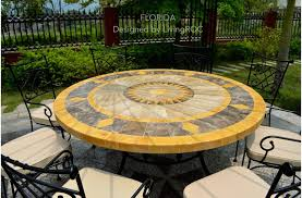 round table mosaic marble stone