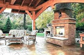 outdoor fireplace ideas plans