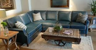 country willow furniture blue couch