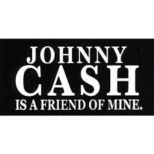 Johnny Cash Johnny Cash Is A Friend Of Mine Sticker Decal Walmart Com Walmart Com