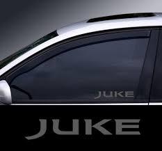 2 X Nissan Juke Glass Effect Window Decal Sticker Graphic Wish
