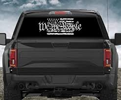 Amazon Com Noizy Graphics 29 We The People 6 Tattered American Flag Car Sticker Truck Window Vinyl Decal Color Dark Gray Automotive