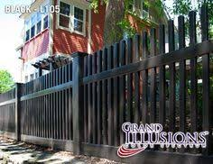 Black Modern Picket Fence Google Search Vinyl Fence Modern Fence Rustic Fence