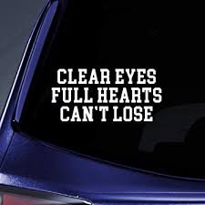 Amazon Com Clear Eyes Full Hearts Sticker Decal Notebook Car Laptop 5 5 White Automotive