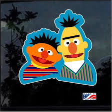 Bert And Ernie Sesame Street Full Color Decal Sticker Custom Sticker Shop