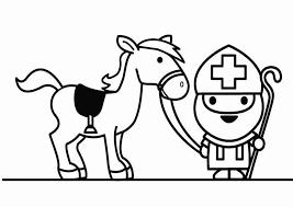 Kleurplaten Sinterklaas Kleurplaten En Paard En Sinterklaas 2hedw9iy