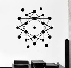 Wall Stickers Atom Science School Geometric Modern Style Vinyl Decal Ig1475 For Sale Online