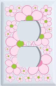 Amazon Com Pink And Green Daisy Flower Outlet Cover Outlet Cover Baby