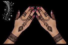 Back Side Jewellery Style Mehndi Design