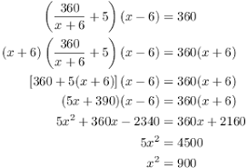 word problems involving quadratics
