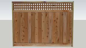 Cedar Fence Panel 3d Warehouse