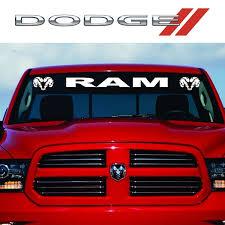 1 X Reflective Vinyl Car Front Rear Window Sticker Windshield Windscreen Decal For Chrysler Dodge Ram 1500 2500 3500 Etc 90 12cm 35 4 5 Inch Wish