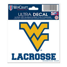 West Virginia University Mountaineers Lacrosse 3x4 Ultra Decal At Sticker Shoppe