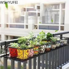Hanging Rack Organizer Flower Pot Storage Basket Rack Closet Holders Balcony Rail Planter Shelf Fence Railing Flower Pots Holder Lovely Novelty In 2020 Flower Pot Holder Flower Pots Herb Garden Design