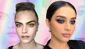 trendy multicolour eye makeup