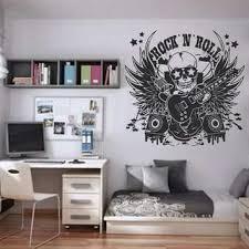 Amazon Com Ik819 Wall Decal Sticker Guitar Skull Bass Speaker Microphone Music Wings Teens Arts Crafts Sewing