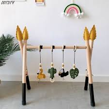 Big Sale 12743 1set Nordic Style Baby Gym Play Nursery Sensory Ring Pull Toy Wooden Frame Infant Room Toddler Baby Toy Rack Gift Kids Room 0 3m Cicig Co