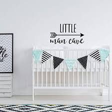 Amazon Com Little Man Cave Wall Decal Nursery Decor Woodland Nursery Wall Decal Arrow Nursery Decals Kids Wall Quotes Boys Room Wall Decal Quote Home Kitchen