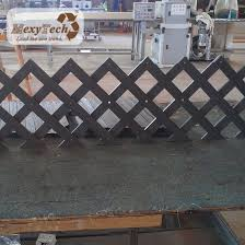 China Mecofence Lattice Design Wood Plastic Composite Panels With Aluminum Post Outdoor Application Fence China Fencing For Villa Garden Fence