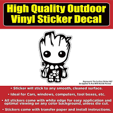 Groot Guardians Of The Galaxy Movie Vinyl Car Window Multi Use Bumper Colorado Sticker