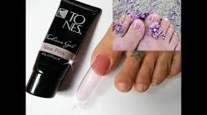 fix ugly toenails w polygel dual