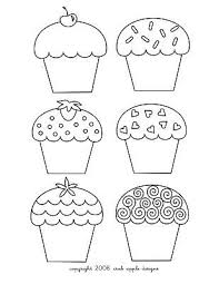 Cute Birthday Cupcake Coloring Pages Kleurplaten