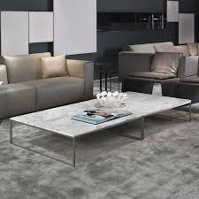 porto square marble coffee table chrome