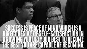 Image result for john wooden definition of success