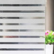 Amazon Com Niviy Frosted Window Film Privacy Window Sticker Non Adhesive Window Vinyl Film Removable Static Cling Window Film Uv Protection Striped Pattern For Home Office 35 4 X 78 7 Inches Home Kitchen