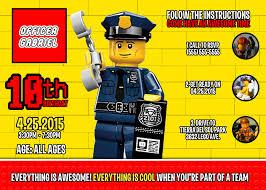 Lego Police Birthday Invitation Cumpleanos Ninos Fiesta Ninos