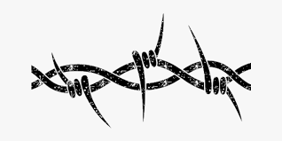Wire Cyber Punk Cyberpunk Metal Freetoedit Simple Barbed Wire Drawings Free Transparent Clipart Clipartkey