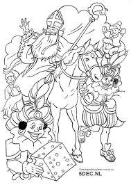 Sinterklaas Knutselen Sinterklaas Kleurplaten Sint En Pieten