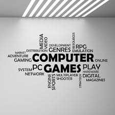 Word Cloud Computer Games Wall Vinyl Decal Boys Bedroom Decor Multiplayer Media Mural Decals Quotes Art Stickers Game Zone G186 Wall Stickers Aliexpress