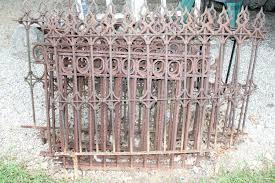 Auction Ohio Iron Fence Panels Trellis
