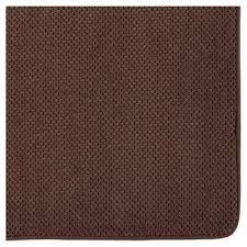 memory foam bath mat brown 20 x34