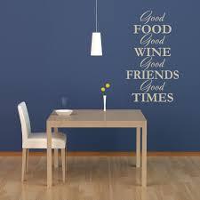 Wall Decal Wine Vino Food Friends Quote Interior Design Ideas