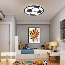 Amazon Com Sunny Lingt Creative Soccer Ceiling Lamp Kids Room Led Pendant Lights Cartoon Children S Room Ceiling Lighting Fixture With Remote Control 40w For Boys Girls Room Kids Room Nursing Room Home Kitchen