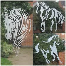 Frosted Glass Vinyl Sticker Equestrian Horse Window Car Decal Horse Box Vehicle Ebay