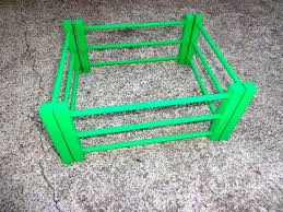 4 Section Wooden Toy Fence Wood Toy Fence Colors Green Red Etsy