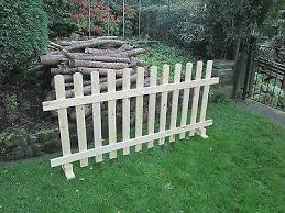 Timber Free Standing Picket Fence Panels Smooth Timber 6ft X 4ft Free