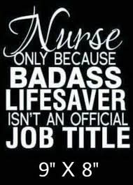 High Quality Thick Vinyl Nursing Decal For Sale Online