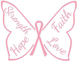 Hope Faith Cure Breast Cancer Awareness Vinyl Decal Wall Sticker Words Letters