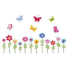 Butterfly Garden Peel Stick Vinyl Decals Girl Bed Room Wall Art Decor Baby Kids For Sale Online