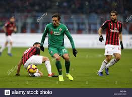 Milan, Italy. 22nd December, 2018. Federico Chiesa of Acf Fiorentina in  action during the Serie A football match between AC Milan and Acf  Fiorentina. Credit: Marco Canoniero/Alamy Live News Stock Photo -