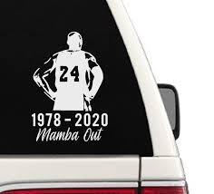 Amazon Com Kobe Basketball Mamba Out Memorial Car Decal Handmade